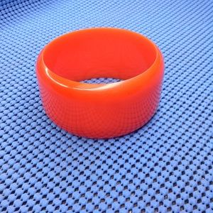 TANGERINE BAKELITE WIDE BANGLE